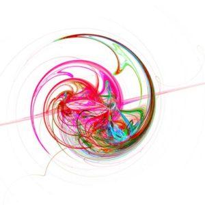 pink circular spiral pattern