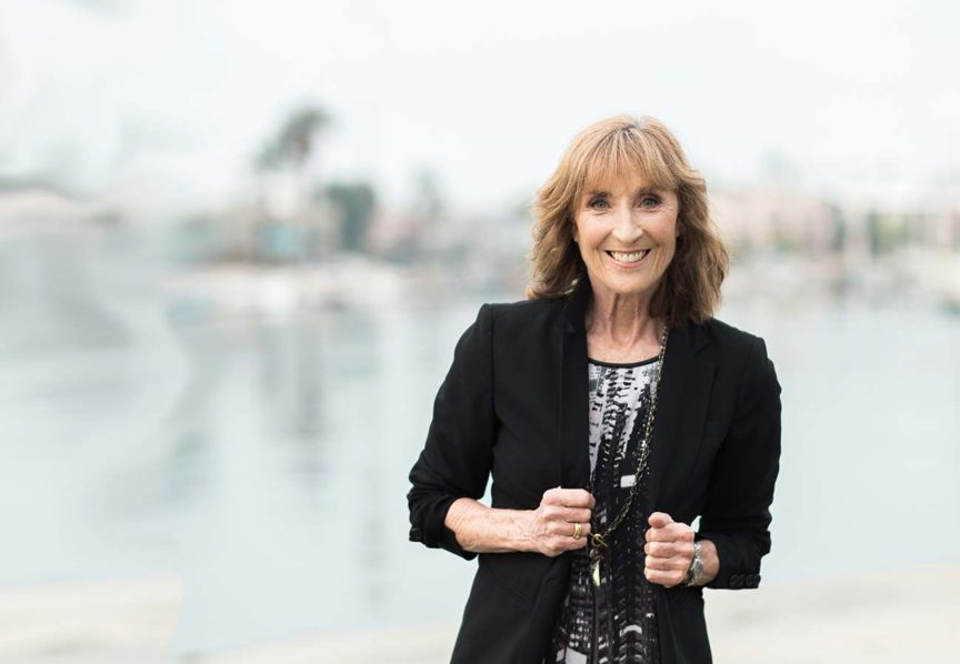 Patricia Albere at beach